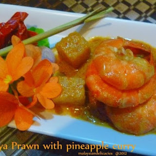 Nyonya Prawn with Pineapple Curry.