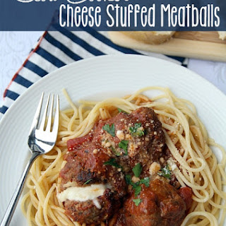 Slow Cooker Cheese Stuffed Meatballs