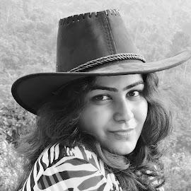 Payal by SANGEETA MENA  - Black & White Portraits & People (  )