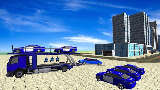 Coche de limusina de la policía estadounidense: capturas de pantalla del juego ATV Quad Transporter 9