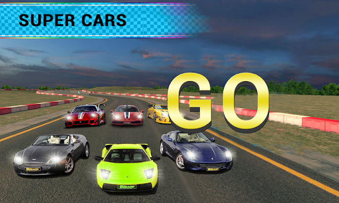 Airborne Real Car Racing Free Game - screenshot