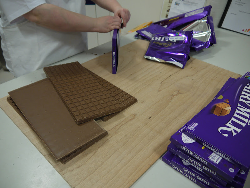 Photo: A base of 1kg Dairy Milk bars