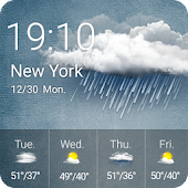 Weather Forecast &Clock Widget