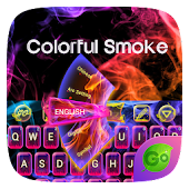 Colorful Smoke Keyboard Theme