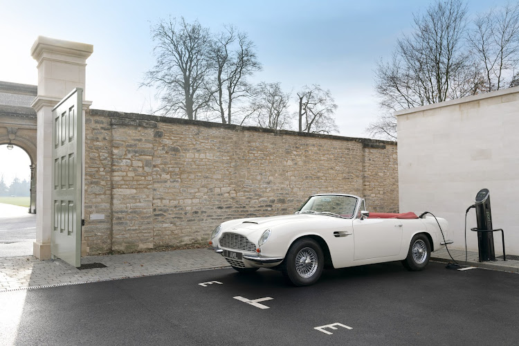 Aston Martin converted an original 1970 DB6 MkII Volante with its reversible EV powertrain concept