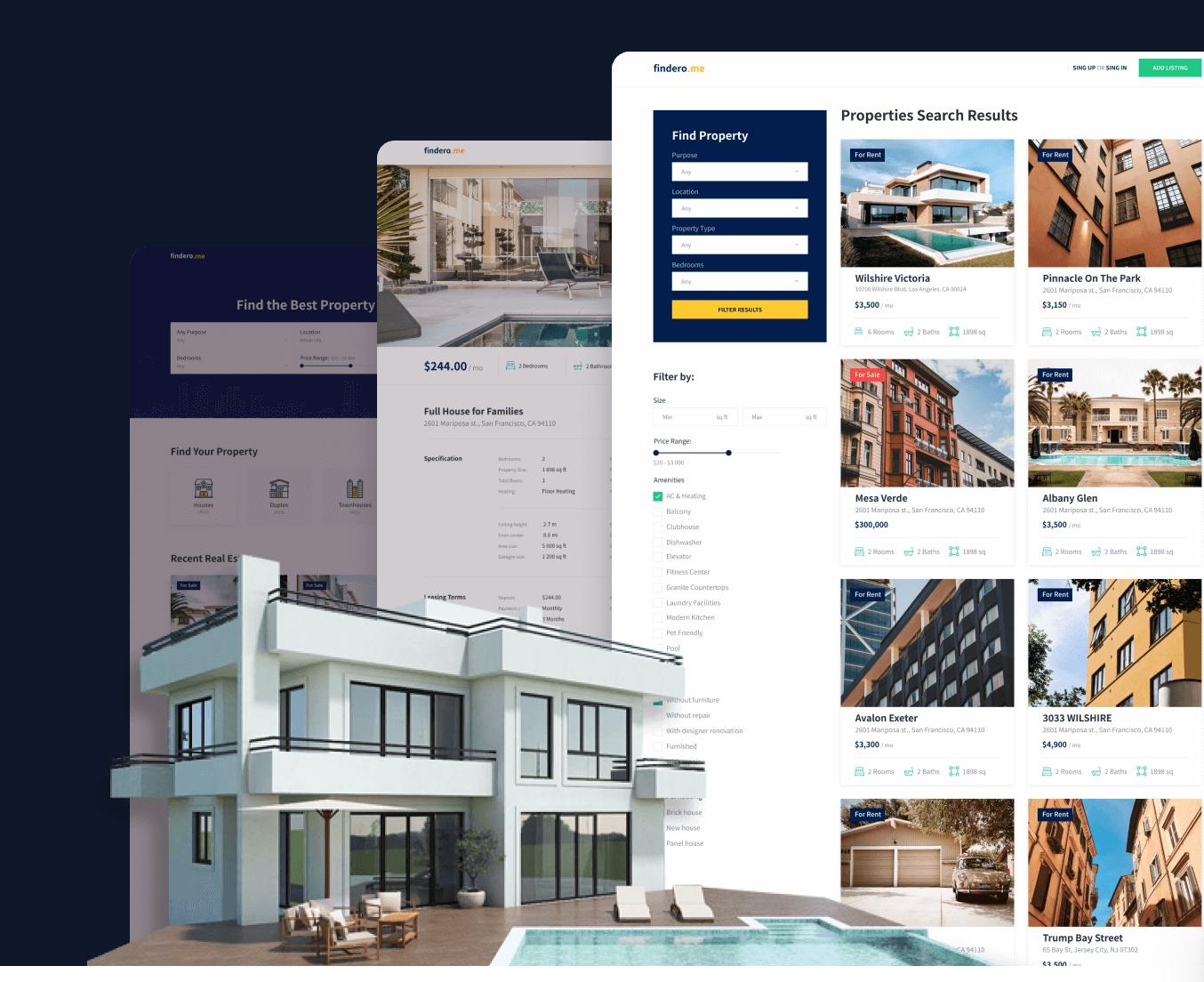 Turnkey real estate website