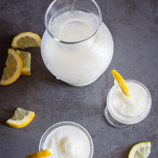 Italian Lemon Sorbet Drink.