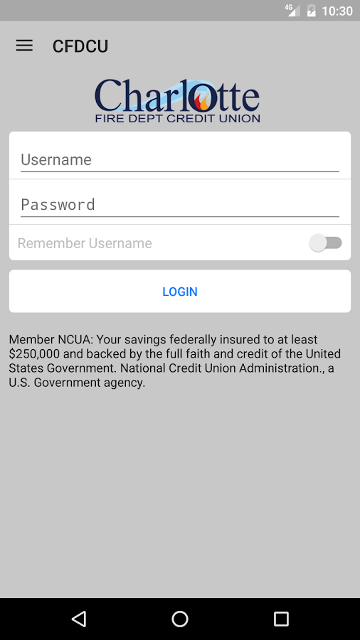 CFDCU Mobile- screenshot