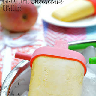 Gluten Free Mango Lime Cheesecake Popsicles.