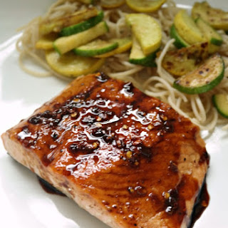 Honey Balsamic Pan Seared Salmon.