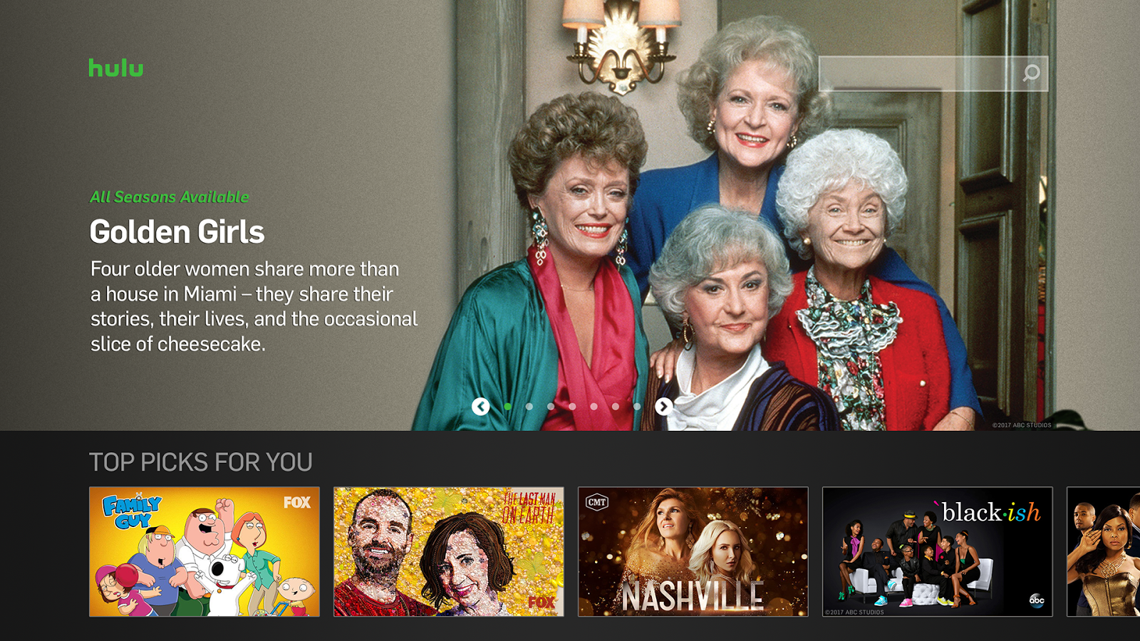 Hulu for Android TV- screenshot