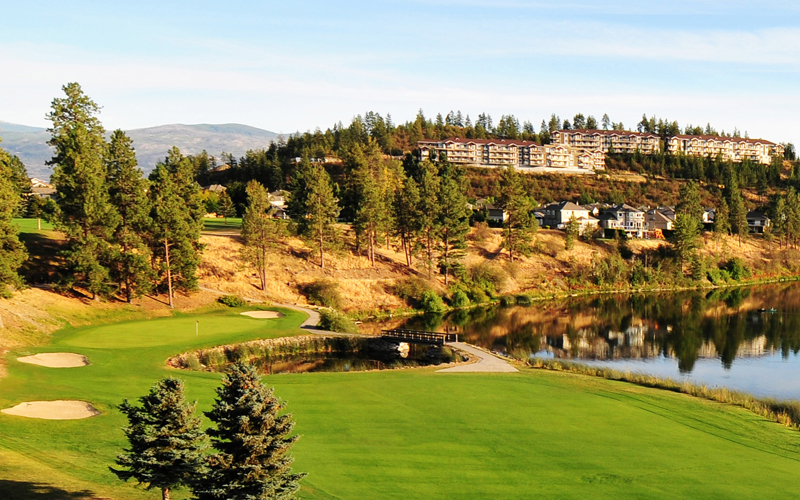 A view overlooking Shannon Lake Golf Course in West Kelowna