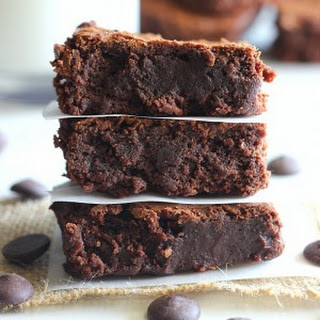 Fudgy Dark Chocolate Brownies.