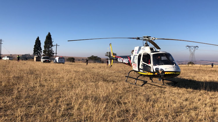 An anti-poaching security guard had to be airlifted from a KZN game farm on June 14, 2018 after being charged by a buffalo while on patrol.