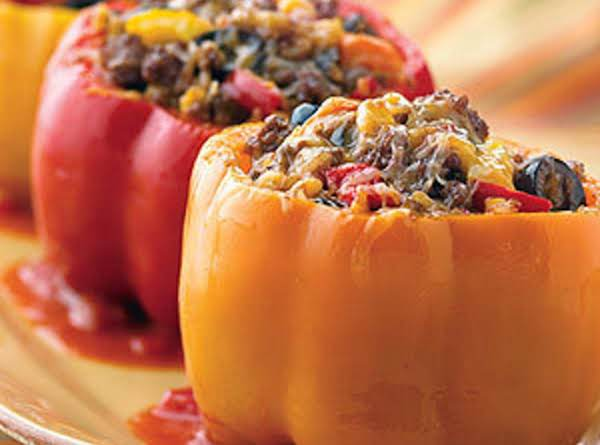 Italian Cube Steaks With Stuffed Peppers Recipe