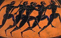 Olympians were depicted as exceptionally strong and athletic individuals on many pieces of ancient greek art.
