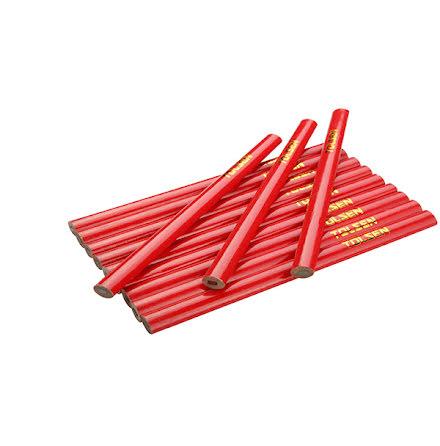 Snickarpenna oval röda 12-pak 12*7.4*176mm