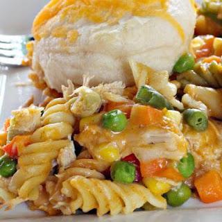 Chicken and Biscuit Casserole.