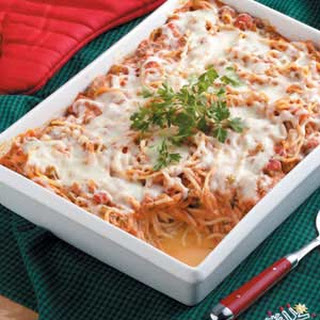 Baked Spaghetti Casserole Taste Of Home Recipes.