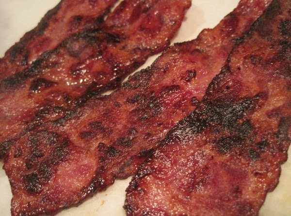 Brown bacon in fry pan until crisp. Drain on paper towels and chop into...