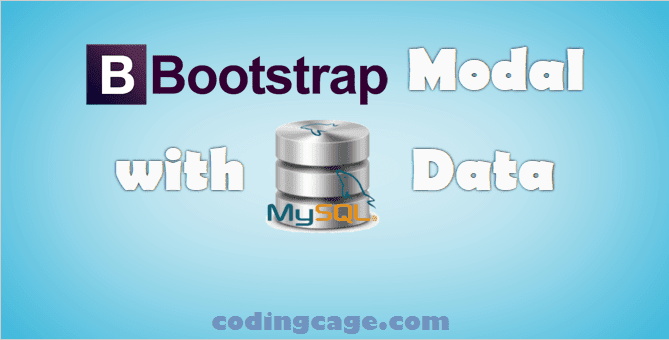 Bootstrap Modal with Dynamic MySQL Data using Ajax & PHP
