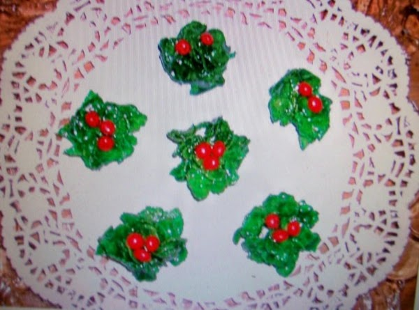 Christmas Holly Cookies   No Bake By Freda Recipe