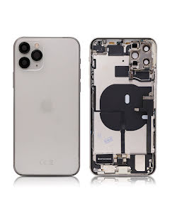 iPhone 11 Pro Max Housing with small parts Original Pulled Silver