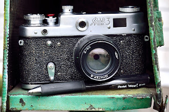 Photo: The mailman brought me a 50 year old Soviet camera yesterday. It's in really great condition, both mechanically and optically.