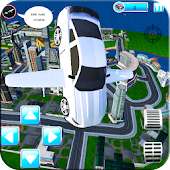 Futuristic Flying Muscle Car Shooting Simulator 3D