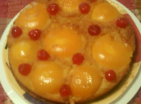 Cherry Peach Upside Down Cake Recipe