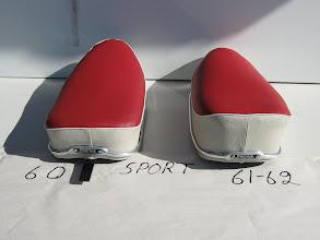 Photo: Tunturi Trial 60 ja Tunturi Trial 61-62 Denfeld satulat. 60 -mallissa on erilaisia takakiinnikkeitä. Tässä yksi variaatio
