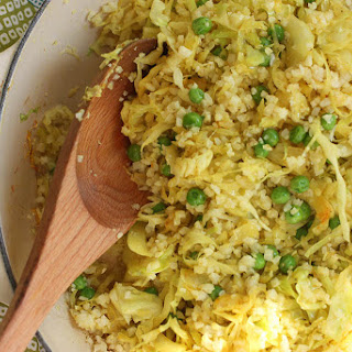 Curry Cabbage & Cauliflower Stir Fry.