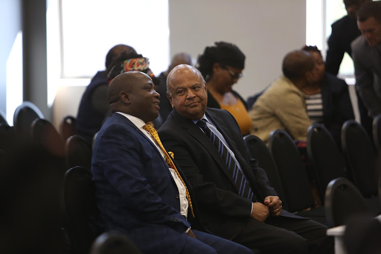 Public Enterprises Minister Pravin Gordhan at the Zondo commission of inquiry into state capture in Parktown, Johannesburg on August 24 2018. He was there to support former deputy finance minister Mcebisi Jonas who was the second witness to testify at the inquiry.