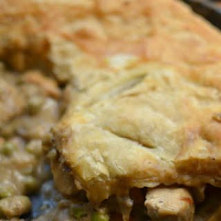 Skillet Puff Pastry Chicken Pot Pie.