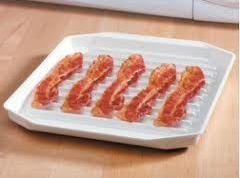 Meanwhile place the strips of bacon in the microwave until crisp, usually about 3-4...