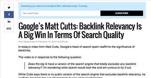 links từ nguồn có tương tác sẽ gia tăng thứ hạng cho website