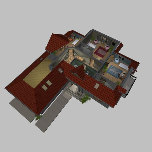APS 121 - Rzut poddasza 3D