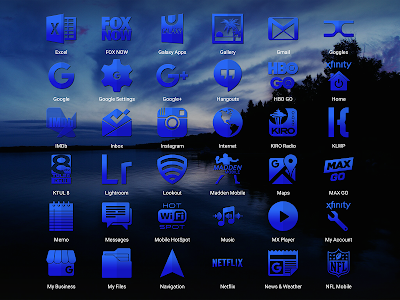Tap Blue - Icon Pack screenshot 15