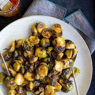Sweet Chili Roasted Brussels Sprouts.
