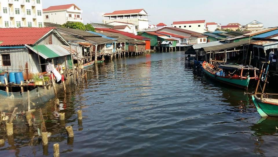 Khu kênh rạch của thành phố Koh Kong