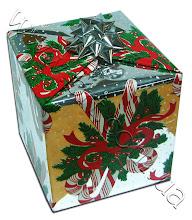 Photo: Подарочная фольга - упаковка коробки, бант из серебристой фольги