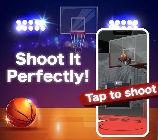 Télécharger (JAPAN ONLY) Shooting the Ball - Basketball Game APK MOD (Astuce) screenshots 1
