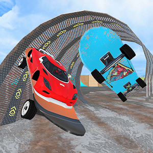 Skate Boarding Cop Car Chase: Skateboard Games