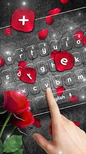 Scarlet Rose Keyboard Theme - náhled