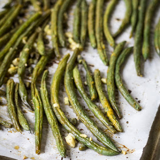 Best Ever Oven Roasted Green Beans.