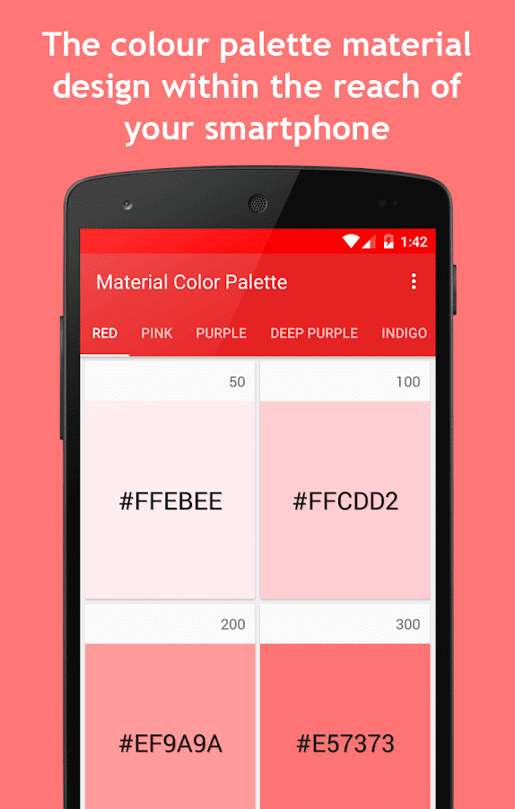 Material Color Palette- screenshot