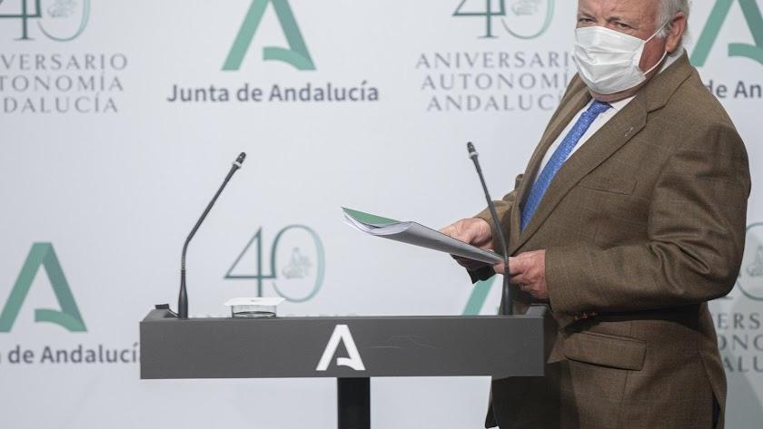 Jesús Aguirre, consejero de Salud y Familias de la Junta de Andalucía.