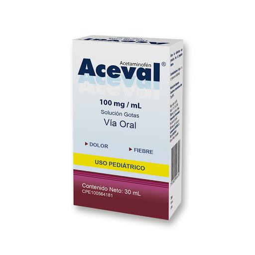 Acetaminofen Aceval 100Mg/Ml 30Ml Gotas Valmor