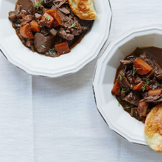 Braised Venison Shoulder with Mushroom Pierogi