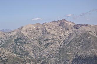 Photo: zľava A Maniccia /2496 m/, Punta Mufrena /2950 m/ a Monte Rotondo /2622 m/